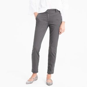J.Crew Gray Cropped Pants in Stretch Chino